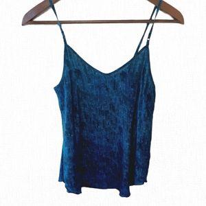 Aritzia Wilfred 100% silk camisole in blue sequins